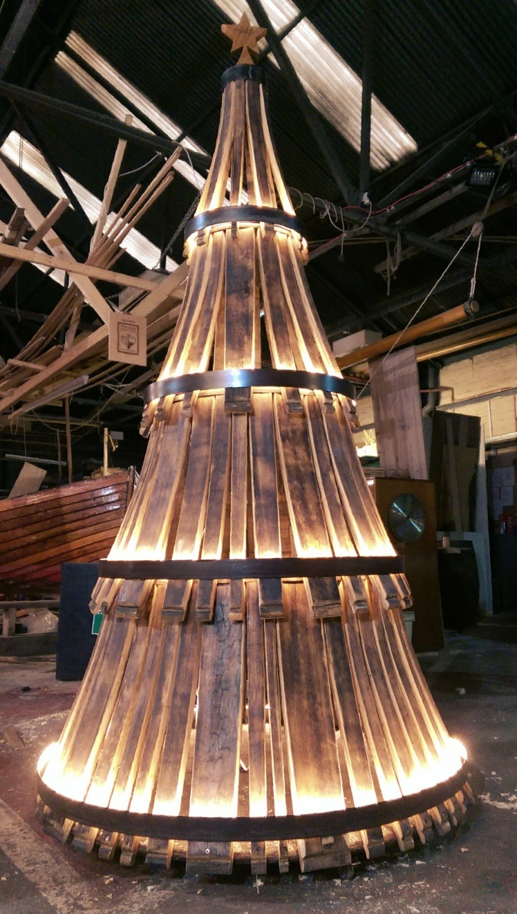 The making of our 'whiskmas tree and other whisky