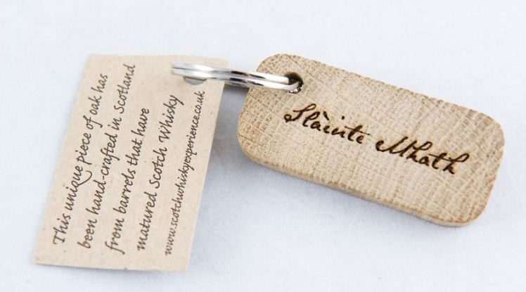 Whisky keyring - a whisky barrel gift from The Scotch Whisky Experience