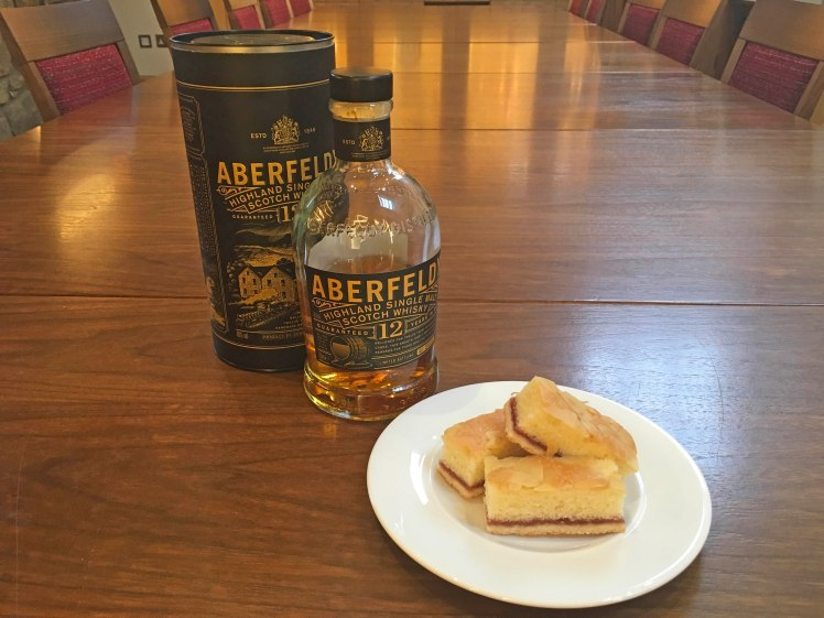 Aberfeldy 12 is a great match with Almond Slices - Scotch Whisky Experience blog