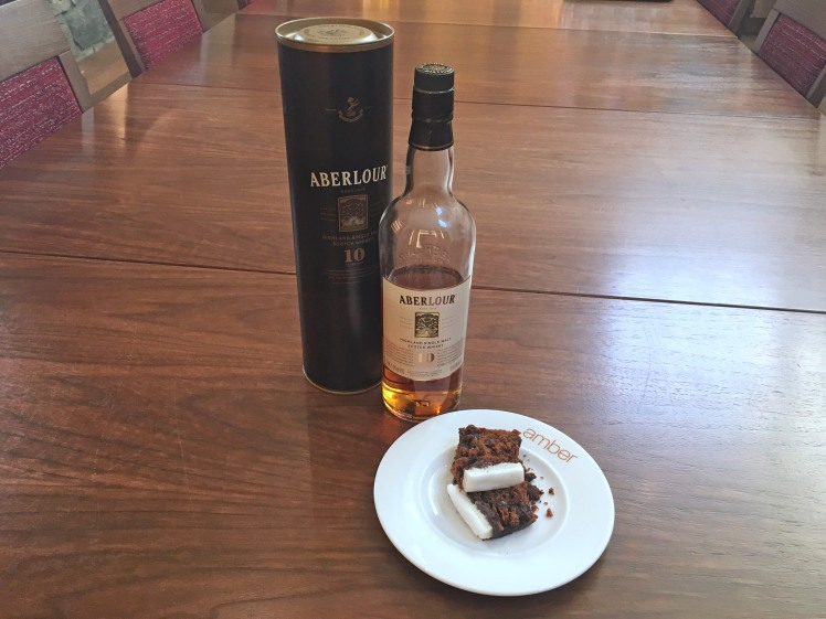 Aberlour 10 is perfect with Christmas Cake - Scotch Whisky Experience blog