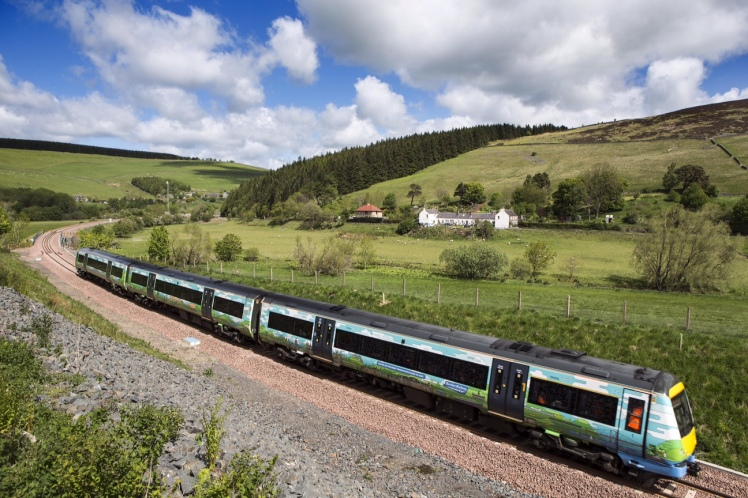 Train undergoing timings on Borders Line