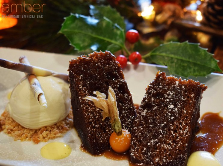 Butterscotch pudding from Amber Restaurant