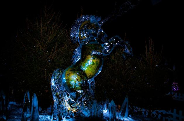 Ice Sculptures on George Street - photo by Andrew Palmer