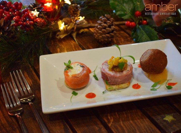 Starter - Christmas Taste of Scotland with decor