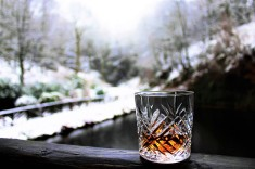 18YO Glengoyne by waterfall with snowy background