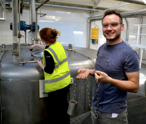 Sampling Wash at Laphroaig